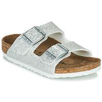 Čevlji  Deklice Natikači Birkenstock ARIZONA Sparkle / White