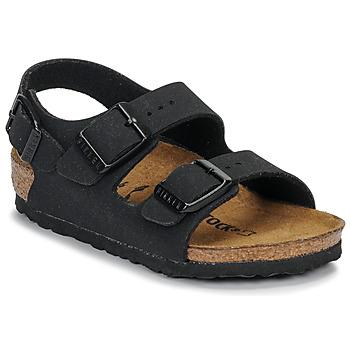 Čevlji  Dečki Sandali & Odprti čevlji Birkenstock MILANO Nubuck / Črna
