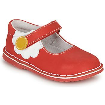 Čevlji  Deklice Balerinke André PAQUERETTE Rdeča