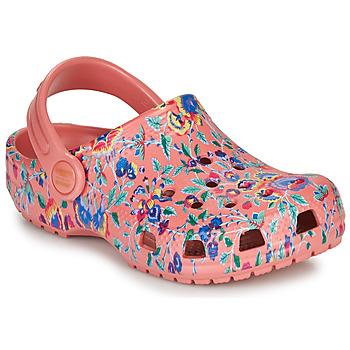 Čevlji  Ženske Cokli Crocs LIBERTY LONDON X CLASSIC LIBERTY GRAPHIC CLOG K Rožnata