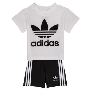 Oblačila Otroci Otroški kompleti adidas Originals CAROLINE Bela / Črna