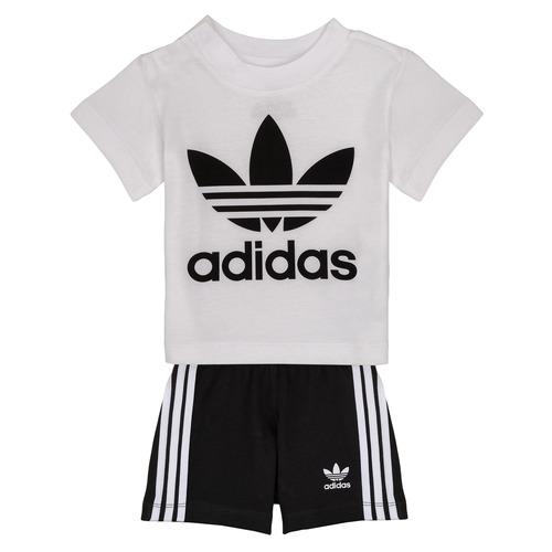 Oblačila Dečki Otroški kompleti adidas Originals CAROLINE Bela / Črna