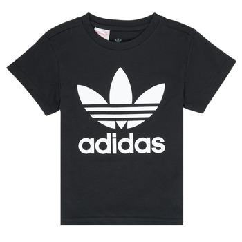 Oblačila Otroci Majice s kratkimi rokavi adidas Originals LEILA Črna
