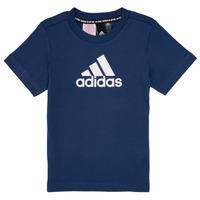 Oblačila Dečki Majice s kratkimi rokavi adidas Performance BRIAN Modra