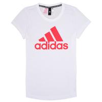 Oblačila Deklice Majice s kratkimi rokavi adidas Performance ELIOTE Bela
