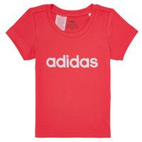 Oblačila Deklice Majice s kratkimi rokavi adidas Performance MAKIT Rožnata