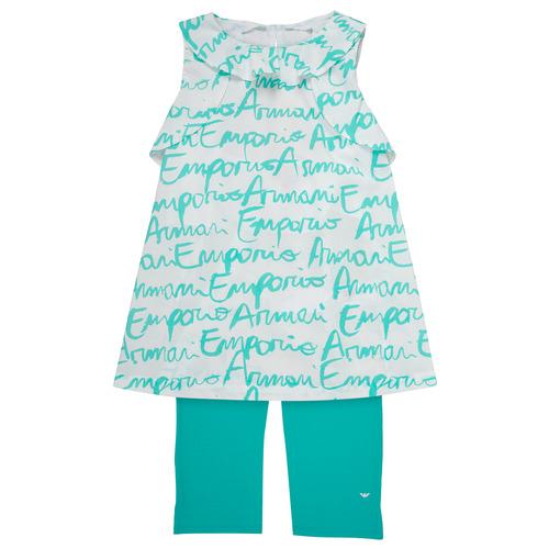 Oblačila Deklice Otroški kompleti Emporio Armani Adel Bela / Modra