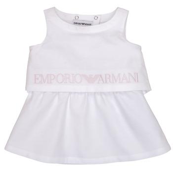 Oblačila Deklice Kratke obleke Emporio Armani Alberic Bela