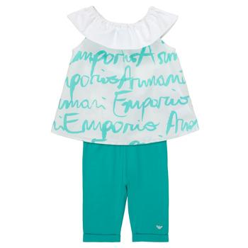 Oblačila Deklice Otroški kompleti Emporio Armani Alex Bela / Modra