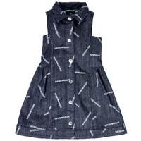 Oblačila Deklice Kratke obleke Emporio Armani Andy Modra