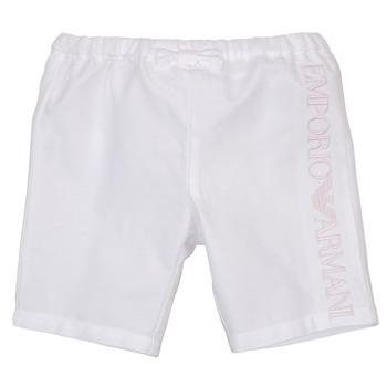 Oblačila Deklice Kratke hlače & Bermuda Emporio Armani Aniss Bela