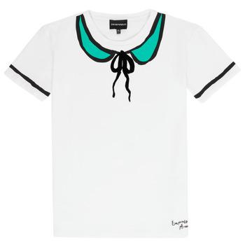 Oblačila Deklice Majice s kratkimi rokavi Emporio Armani Anthonin Bela