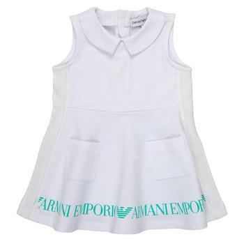 Oblačila Deklice Kratke obleke Emporio Armani Apollinaire Bela
