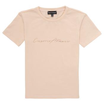 Oblačila Deklice Majice s kratkimi rokavi Emporio Armani Armel Rožnata