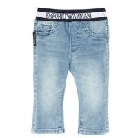 Oblačila Dečki Jeans straight Emporio Armani Ange Modra