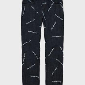 Oblačila Dečki Jeans straight Emporio Armani Adil Modra