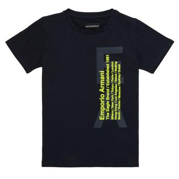 Oblačila Dečki Majice s kratkimi rokavi Emporio Armani Andoni Modra