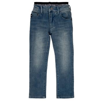 Oblačila Dečki Jeans straight Emporio Armani Annie Modra