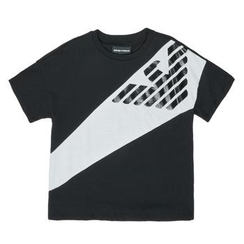 Oblačila Dečki Majice s kratkimi rokavi Emporio Armani Blaise Črna / Bela