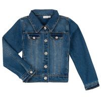 Oblačila Dečki Jeans jakne Name it NITSTAR RIKA Modra