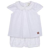 Oblačila Deklice Otroški kompleti Carrément Beau LORELLI Bela