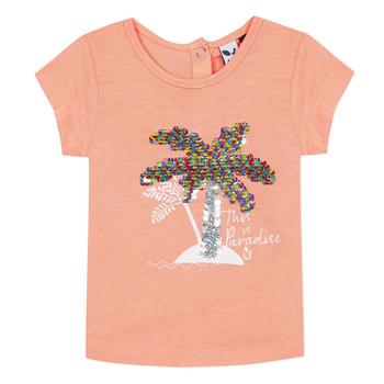 Oblačila Deklice Majice s kratkimi rokavi 3 Pommes EMMA Oranžna