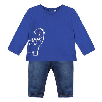 Oblačila Dečki Otroški kompleti 3 Pommes GABRIEL Modra