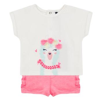Oblačila Deklice Otroški kompleti 3 Pommes JULIEN Rožnata