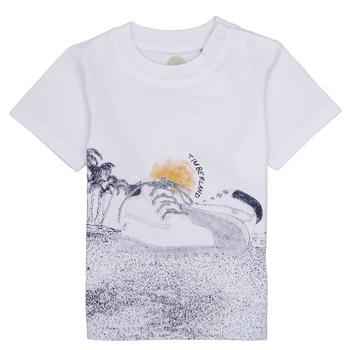 Oblačila Dečki Majice s kratkimi rokavi Timberland ANTONIN Bela
