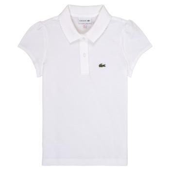 Oblačila Deklice Polo majice kratki rokavi Lacoste CAYDEN Bela