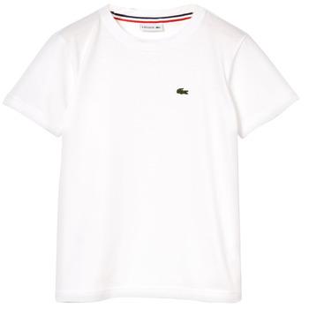 Oblačila Dečki Majice s kratkimi rokavi Lacoste NAE Bela