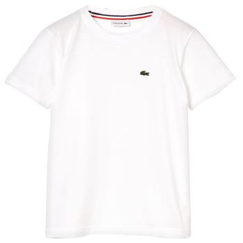 Oblačila Dečki Majice s kratkimi rokavi Lacoste ALIZE Bela