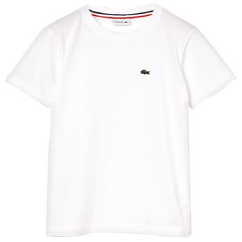 Oblačila Dečki Majice s kratkimi rokavi Lacoste APAULINE Bela