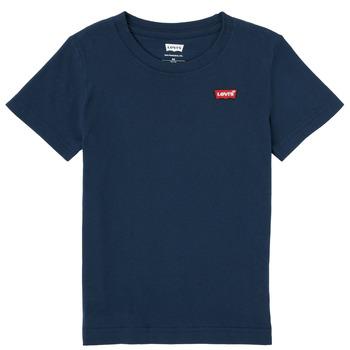Oblačila Dečki Majice s kratkimi rokavi Levi's BATWING CHEST HIT Modra