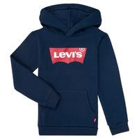 Oblačila Dečki Puloverji Levi's BATWING SCREENPRINT HOODIE Modra