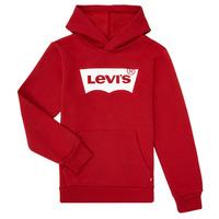 Oblačila Dečki Puloverji Levi's BATWING SCREENPRINT HOODIE Rdeča