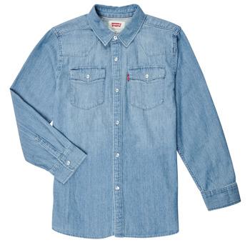 Oblačila Dečki Srajce z dolgimi rokavi Levi's BARSTOW WESTERN SHIRT Modra
