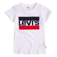 Oblačila Deklice Majice s kratkimi rokavi Levi's SPORTSWEAR LOGO TEE Bela