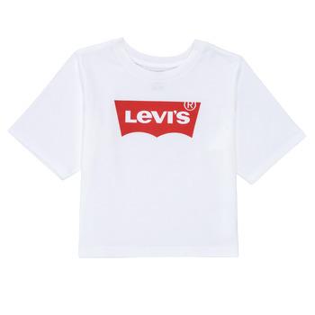 Oblačila Deklice Majice s kratkimi rokavi Levi's LIGHT BRIGHT HIGH RISE TOP Bela