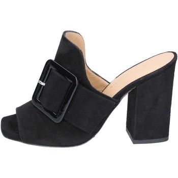 Čevlji  Ženske Natikači Broccoli Sandale BP304 Črna