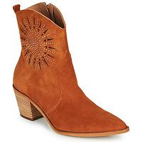 Čevlji  Ženske Gležnjarji Fericelli MEYLIA Cognac