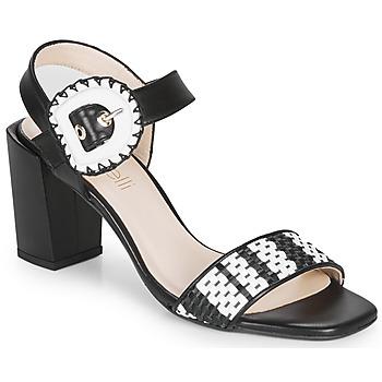 Čevlji  Ženske Sandali & Odprti čevlji Fericelli MAIRA Črna / Bela
