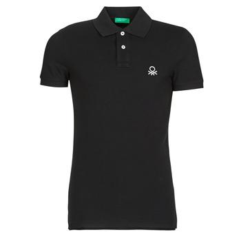Oblačila Moški Polo majice kratki rokavi Benetton MARNELLI Črna