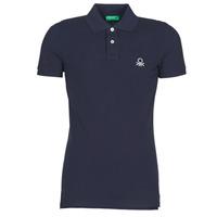 Oblačila Moški Polo majice kratki rokavi Benetton MARAKY Modra