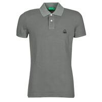 Oblačila Moški Polo majice kratki rokavi Benetton MARADI Siva