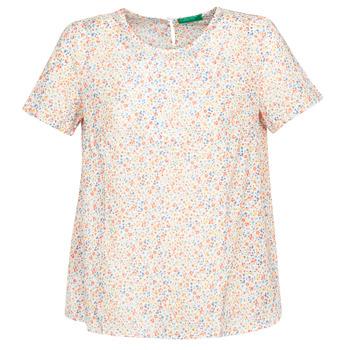 Oblačila Ženske Topi & Bluze Benetton DANIEL Bela / Večbarvna
