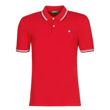 Oblačila Moški Polo majice kratki rokavi Benetton GUERY Rdeča