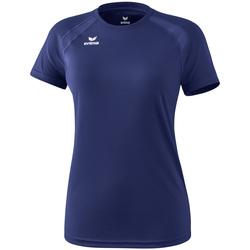 Oblačila Ženske Majice s kratkimi rokavi Erima T-shirt femme  Performance bleu