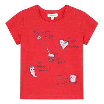 Oblačila Deklice Majice s kratkimi rokavi Catimini MUSIKOU Rdeča
