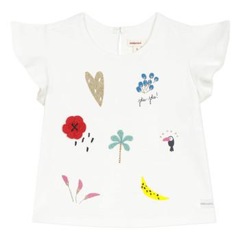 Oblačila Deklice Majice s kratkimi rokavi Catimini NADEGE Bela